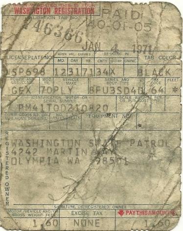 Vintage registration cards | Danny's License Plates